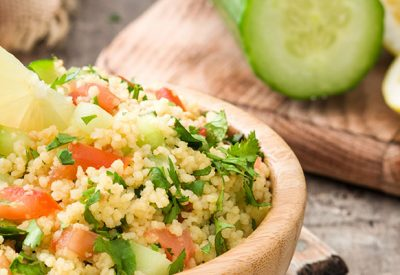 Vegan Friendly Lemons Tabbouleh Salad