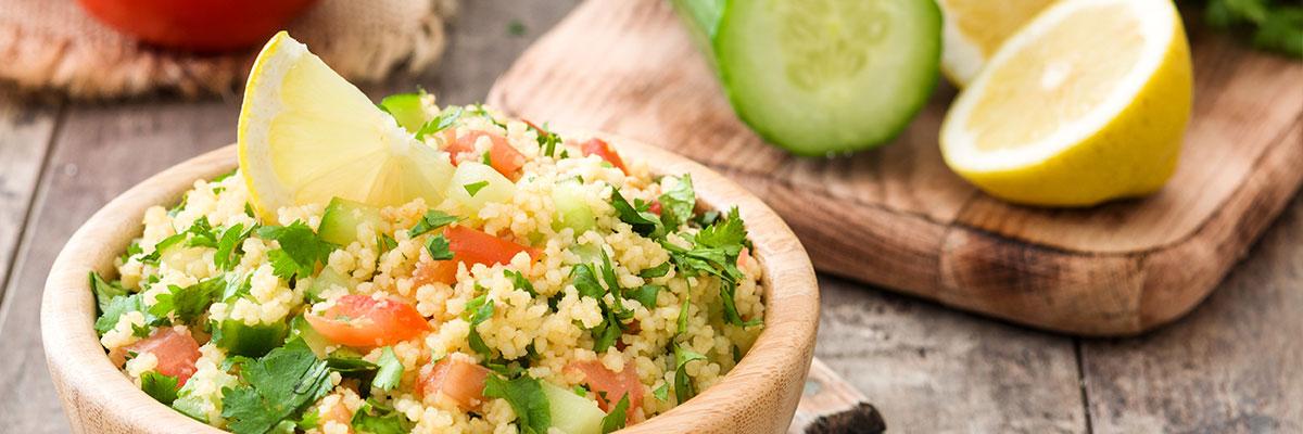 Vegan Friendly Lemons Tabbouleh Salad