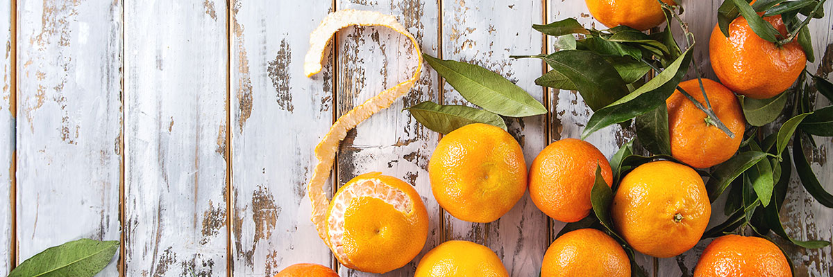 Deliciously, bright and juicy clementines.