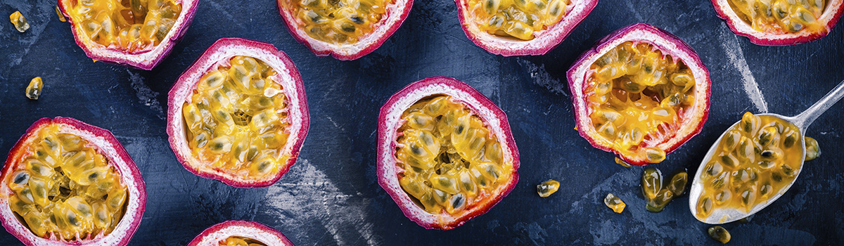 Passion fruit ingredients packed with sunshine